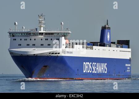 Corona Seaways inbound Kiel Fjord - Stock Image