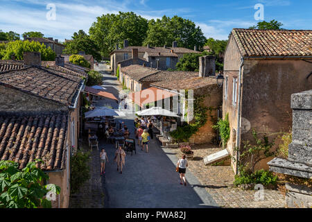 The main street in the Citadelle de Blaye near the town of Blaye in the Nouvelle-Aquitaine region of France. UNESCO World Heritage Site. - Stock Image