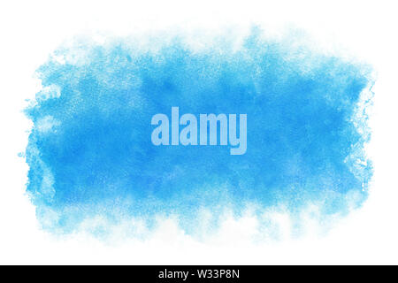 Pastel color summer blue water abstract or natural watercolor paint background - Stock Image