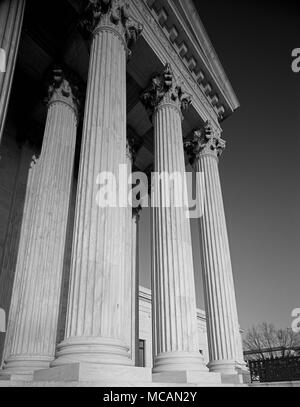 Supreme Court of the United States Colonnade - Stock Image