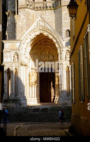 North entrance to Chartres Cathedral, France - Stock Image