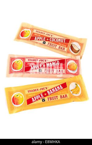 An assortment of Trader Joe's Fruit Bars - Stock Image