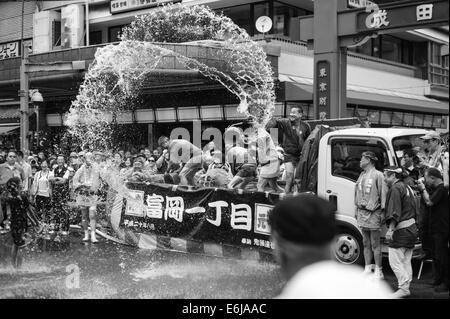 Fukagawa Hachiman Matsuri (Fukagawa Hachiman Festival) in August in Tokyo. - Stock Image