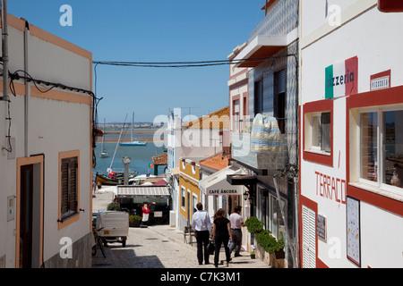 Portugal, Algarve, Alvor, Street Scene - Stock Image