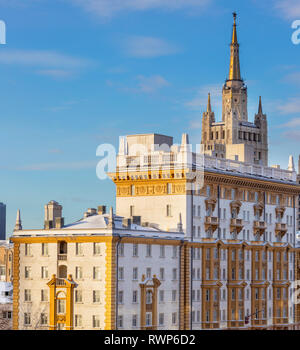 Embassy of the United States building, Novinskiy Boulevard, Moscow, Russia - Stock Image