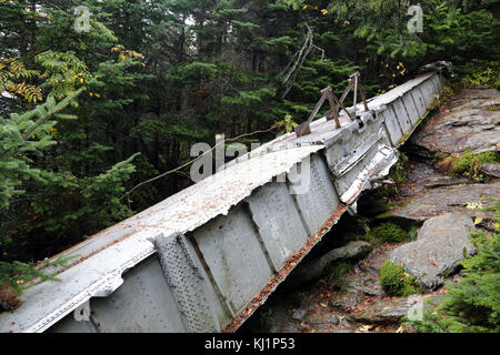 Remnant of a World War II era  B-24J bomber wing on Camel's Hump, VT, USA - Stock Image