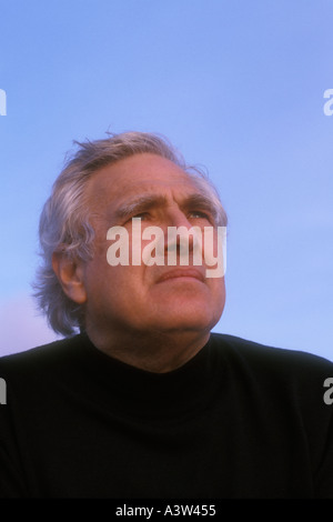 Portrait of senior Caucasian male - Stock Image