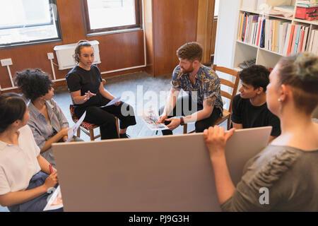 Creative business people brainstorming in office meeting - Stock Image