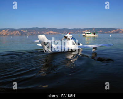 Czech Aircraft Works Mermaid Seaplane at the Splash-In, Lakeport, California, Lake County, California - Stock Image