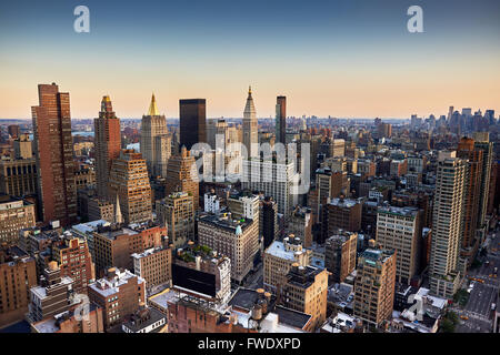 Evening view from a high building of Midtown, New York City - Stock Image