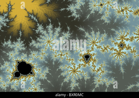 Small Mandelbrot portion magnified a billion times - Stock Image