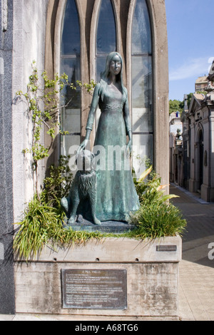 Recoleta statue - Liliana Crociati - Stock Image