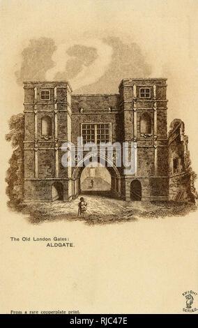 The Old London Gates - Aldgate. - Stock Image