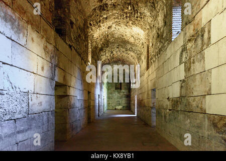 Substructions of Diocletian's Palace, Split, Croatia - Stock Image
