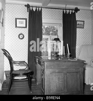 Anton Chekhov's study in the Melikhovo museum estate. - Stock Image