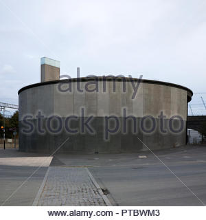 Pudding Mill Pumping Station - foul sewer utility building adjacent to the Olympic Park: Stratford, London. - Stock Image
