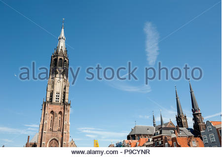 Delft The Netherlands Nieuwekerk, New Church a building started in 1351. - Stock Image