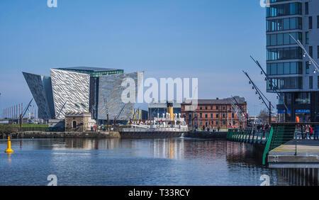 Belfast Harbour - Stock Image