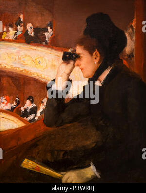 In the Loge, Mary Stevenson Cassatt, 1878, Museum of Fine Arts, Boston, Mass, USA, North America - Stock Image