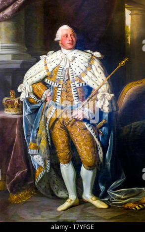 Nathaniel Dance-Holland, Portrait of George III, painting, 1773 - Stock Image