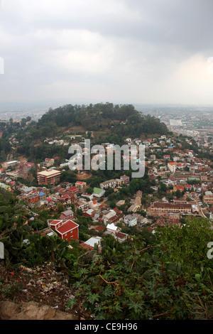 Antananarivo, the Capital City of Madagascar, Africa. A View from the Queen's Palace. - Stock Image