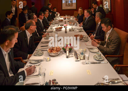 U.S. Secretary of State Michael R. Pompeo meets with  Japanese Foreign Minister Tarō Kōno in Tokyo, Japan on July 7, 2018. - Stock Image