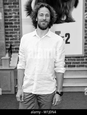 Los Angeles, CA - June 02, 2019: Jonathan Del Val attends the Premiere Of Universal Pictures' 'The Secret Life Of Pets 2' held at Regency Village Thea - Stock Image