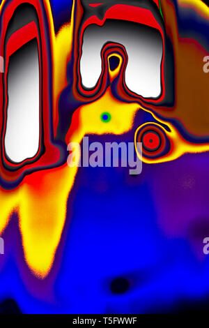 Modern Art Photography Abstract Concentration Creative Sanyasi or Sadhu One who has become a Mendicant India 23/3/2007. - Stock Image