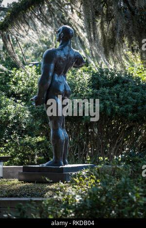 Heroic Man, bronze sculpture by Gaston Lachaise, NOMA, New Orleans Sculpture Garden New Orleans, Louisiana, USA - Stock Image