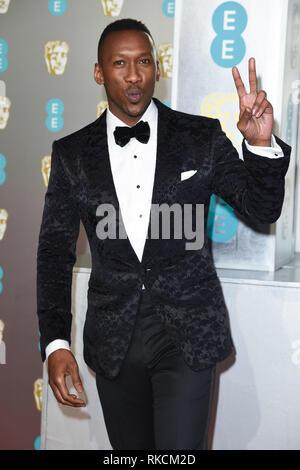 London, UK. 10th Feb, 2019. LONDON, UK. February 10, 2019: Mahershala Ali arriving for the BAFTA Film Awards 2019 at the Royal Albert Hall, London. Picture: Steve Vas/Featureflash Credit: Paul Smith/Alamy Live News - Stock Image