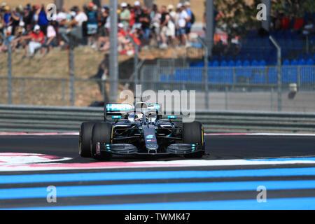 Marseille, France. 21st Jun 2019. FIA Formula 1 Grand Prix of France, practice sessions; Mercedes AMG Petronas Motorsport, Lewis Hamilton Credit: Action Plus Sports Images/Alamy Live News - Stock Image