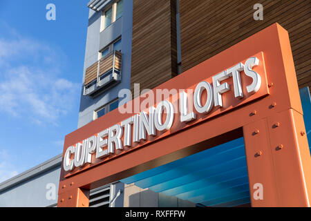 Main Street Cupertino Lofts, Cupertino, California, USA - Stock Image
