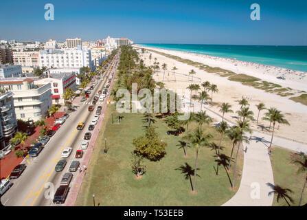 Miami Beach Florida South Beach Atlantic Shore Ocean Drive - Stock Image