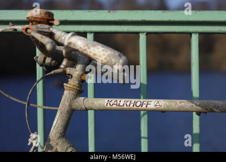 Bicycles removed from a lake - Stock Image