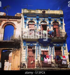 Homes in central Havana Cuba - Stock Image