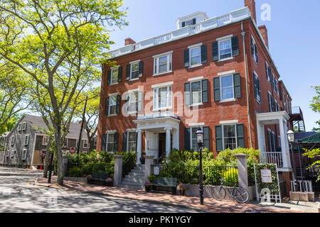 The historic Jared Coffin House, a mansion now used as a hotel, on Broad Street in Nantucket, Massachusetts. - Stock Image