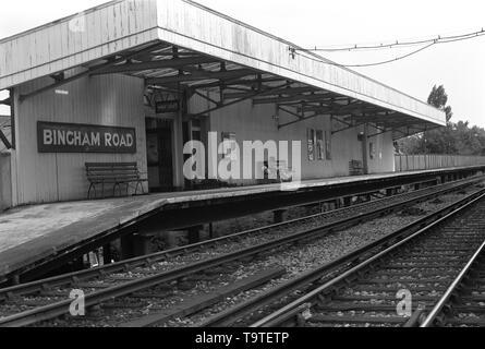 Bingham Road Down Platform -1 - Stock Image
