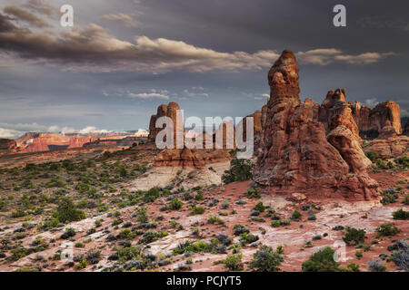 Sunset in Arches National Park, Utah, USA - Stock Image