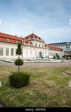 Upper Belvedere palace and gardens, Vienna, Austria - Stock Image