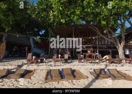 Breakfast at Castaway Resort on Sunrise beach, Ko Lipe island, Thailand - Stock Image