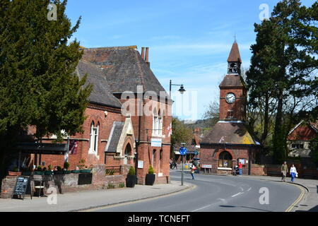Wendover Clock Tower and Town House, Wendover town centre, Buckinghamshire, UK - Stock Image