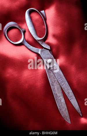 Vintage scissors by Singer - Stock Image