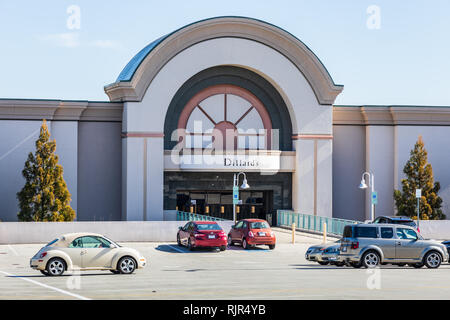 HICKORY, NC, USA-2/5/19: Dillard's Department Store entrance at Valley Hills Mall. - Stock Image