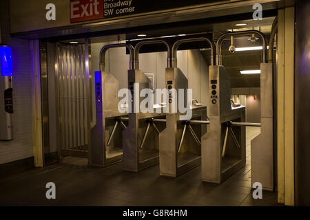 Access point at the subway in New York - Stock Image