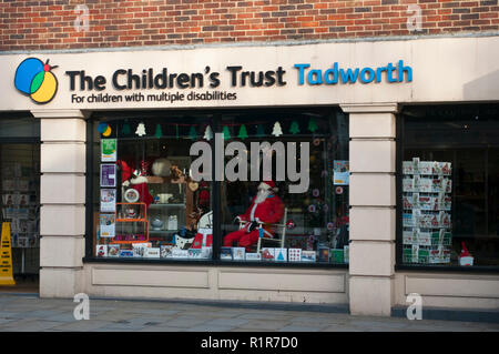 Exterior Of The Childrens Trust Tadworth Charity Shop - Stock Image