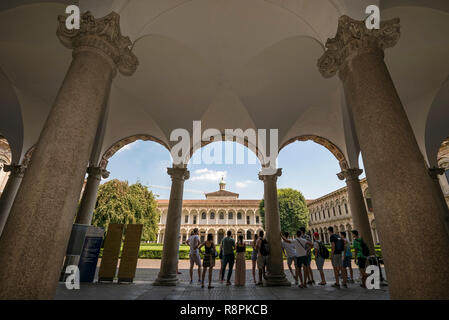 Horizontal view of the University of Milan, Italy. - Stock Image