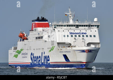 Stena Nordica inbound for Travemünde - Stock Image