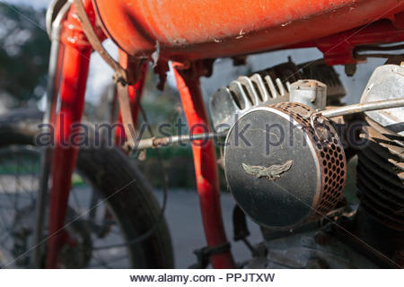 1942 Harley Davidson WLA 750 (42WLA) Motorcycle - 3 Speed Hand Operated Gears, foot clutch. USA WW2 Army era bike - Stock Image