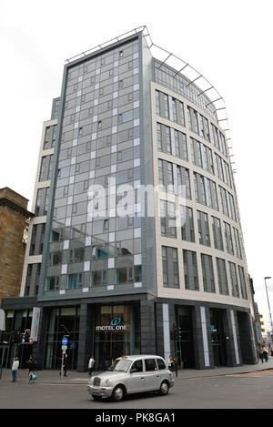 Newly completed German owned low-budget hotel 'Motel One' in Glasgow, Scotland, UK - Stock Image