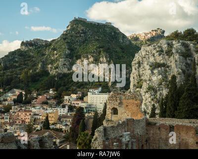 Taormina, Province of Messina, Sicily, Italy - Stock Image